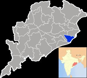 Jagatsinghpur district - Image: Orissa Jagatsinghpur