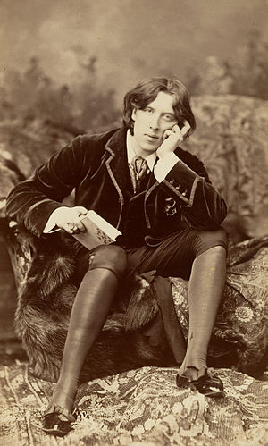 Burrow-Giles Lithographic Co. v. Sarony - The subject of the lawsuit: Oscar Wilde No. 18 by Napoleon Sarony (1882)