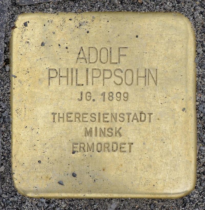 Osten (Oste) Stolperstein Philippsohn, Adolf