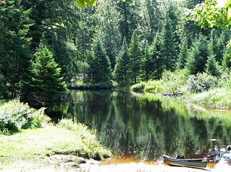 Oswegatchie River - Oswegatchie River access on Inlet Road