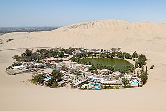 Huacachina - Huacachina from a nearby sand dune