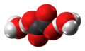 Oxalic acid dihydrate molecules spacefill from xtal.png