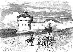 P.B. Fort de Nazaran. Floriant Gille. Lettres sur le Caucase et la Crimée. 1859. P.206.jpg