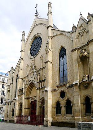 Église Saint-Eugène-Sainte-Cécile - Main facade on rue Sainte-Cécile