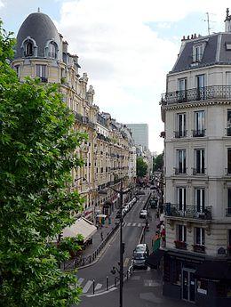 Rue Parrot vue depuis la promenade plantée