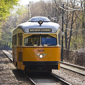 Ashmont–Mattapan High Speed Line - Most of the right-of-way is grade-separated