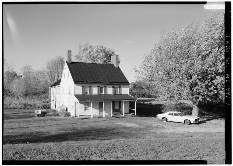 File:PERSPECTIVE VIEW OF SOUTH (FRONT) - Newcomer Farm, House, Boonsboro Pike near Middle Bridge, Sharpsburg, Washington County, MD HABS MD,22-SHARP.V,32-1.tif