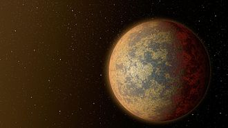 HD 219134 b - An artist's impression of the hot rocky exoplanet HD 219134 b.