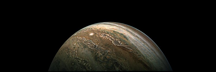 A panorama of Jupiter in December 2017, a derivative of PIA21977 - Falling Away from Jupiter.jpg