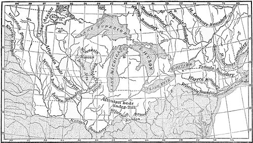 PSM V49 D381 Stages of the ice age in the us and canada.jpg