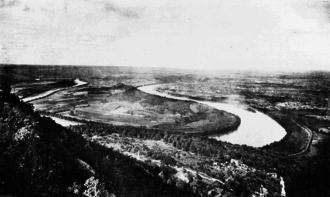 Moccasin Bend - Historic image of Moccasin Bend from Lookout Mountain