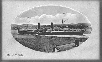 SS Queen Victoria (1887) - Queen Victoria approaches the Victoria Pier, Douglas.