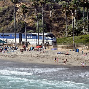 Pacific Surfliner - A Pacific Surfliner enters San Clemente, California.