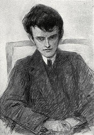 Padraic Colum - Portrait drawing of Colum by John B. Yeats, 1900s