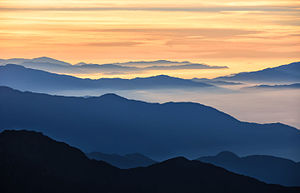 Langtang National Park - Image: Paints of sunrise on Langtang National Park