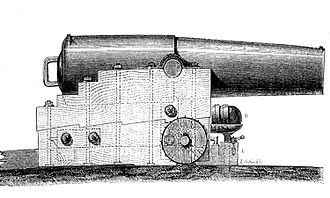 Naval artillery in the Age of Sail - A Paixhans gun.