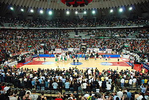 PalaLottomatica - Interior of PalaLottomatica During a game of Virtus Roma on 2007