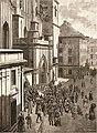 Palenie cierni przed katedrą św. Jana w Warszawie, rys. Czesław Jankowski.jpg