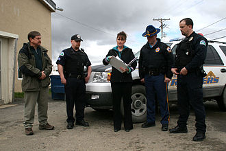 Alaska Public Safety Commissioner dismissal - Palin with Monegan and troopers in 2007