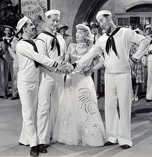 Panama Hattie (film) - Ben Blue, Red Skelton, Ann Sothern and Rags Ragland in Panama Hattie