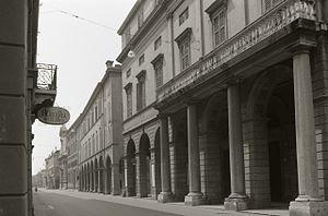 Teatro Comunale Modena - Exterior. Photo by Paolo Monti, 1973.