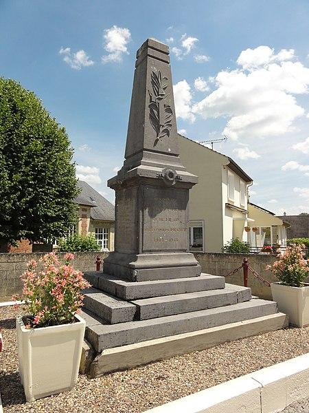 Pargny-Filain (Aisne) monument aux morts de Pargny-Filain et de Filain