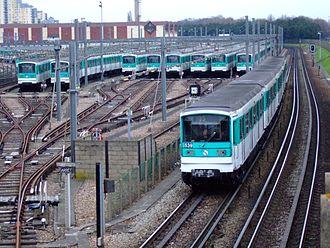 MF 67 - Line-up of MF 67s on a depot along Line 5.