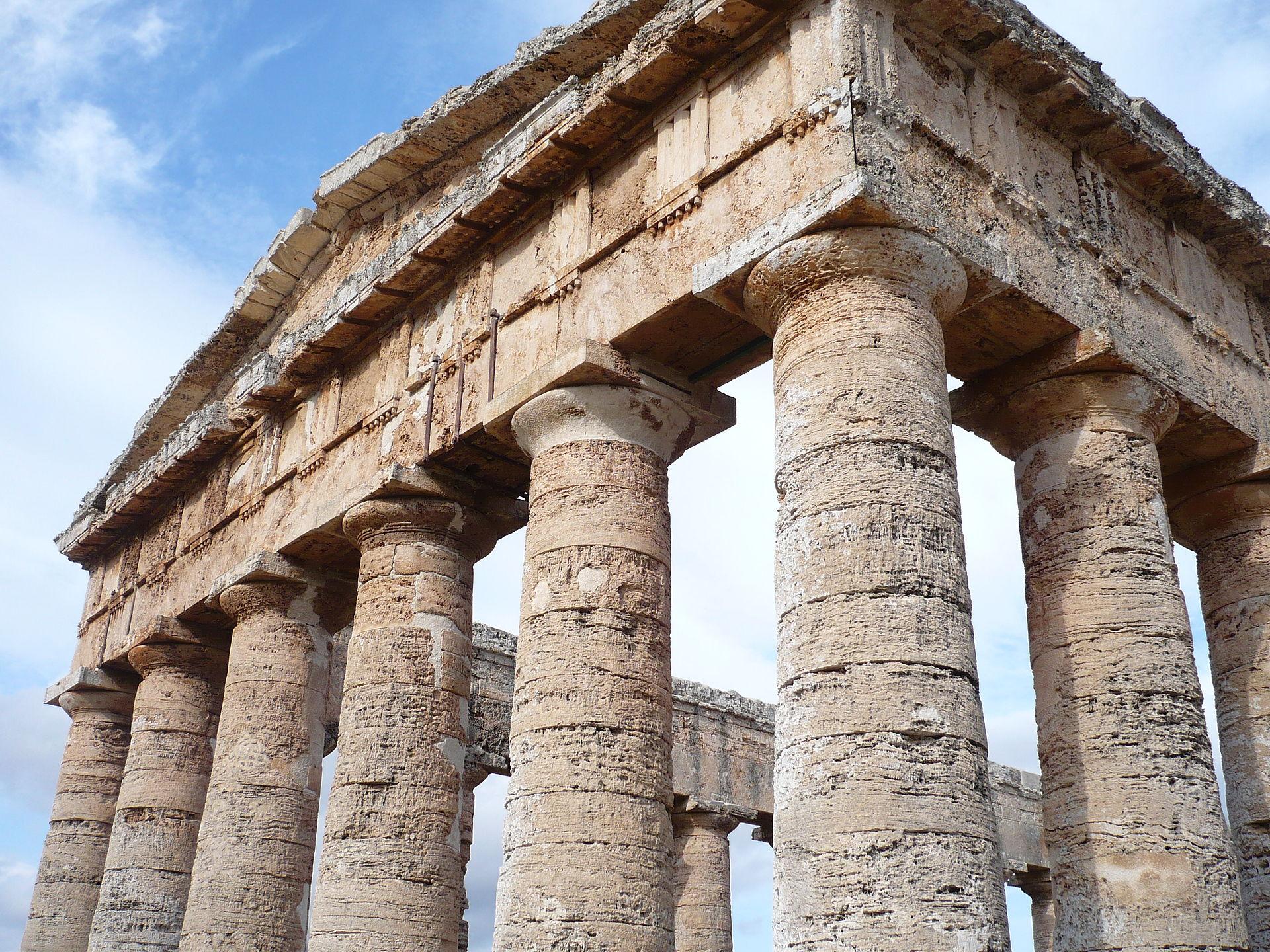 Particolare tempio greco