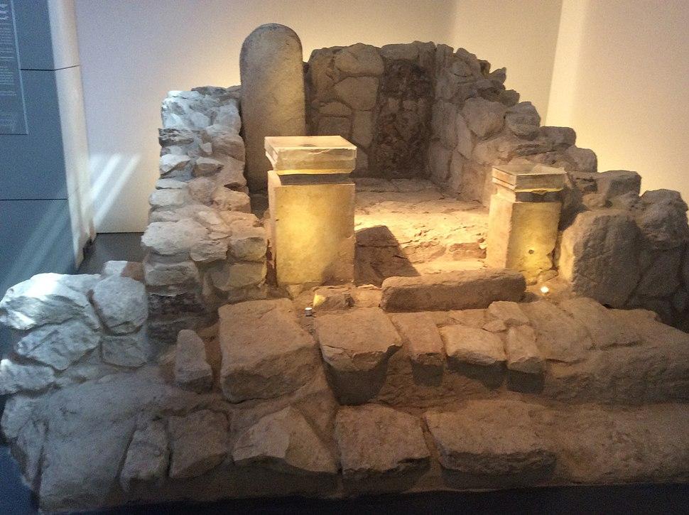 Partie centrale du seul sanctuaire du Royaume de Juda retrouvé 8ème siècle avant JC, Arad, Musée d'Israël