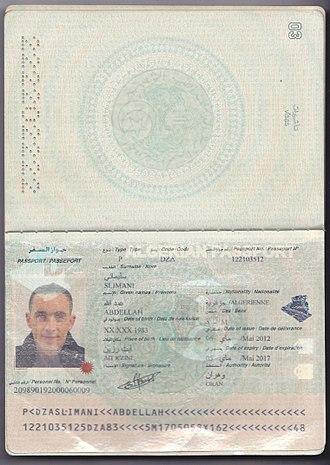 Algerian passport - Algerian biometric passport
