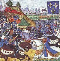 Bataille de Patay (1429) : La chevalerie charge avant que les archers anglais aient pu se retrancher, Jeanne d Arc y remporte une victoire décisive.