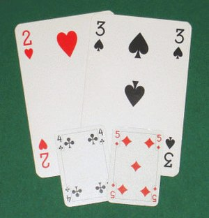 Patience (game) - Patience cards are smaller than poker or bridge cards.