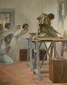 Paul-Hippolyte Flandrin - Fra Angelico visité par les anges (1894).jpg
