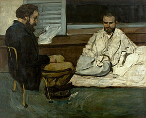 Émile Zola - Paul Cézanne, Paul Alexis Reading to Émile Zola, 1869–1870, São Paulo Museum of Art