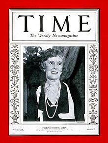 Pauline Sabin, fondatrice della Women's Organization for National Prohibition Reform, associazione che propugnava la fine del proibizionismo