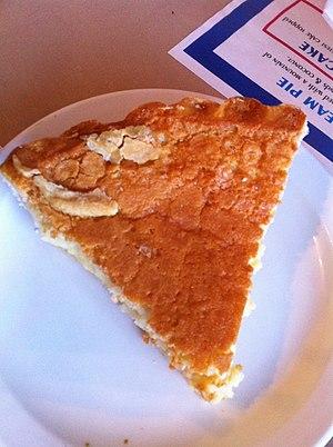 Peanut pie - Image: Peanut butter pie, Seabrook Classic Cafe