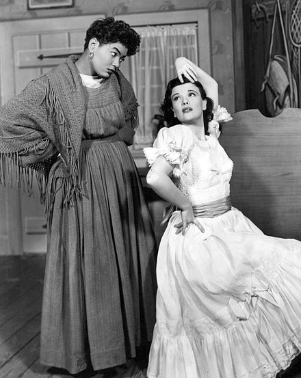 Pearl Bailey and Nanette Fabray in the Broadway musical Arms and the Girl (1950)