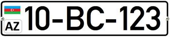 Azerbaijani registration plates