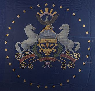 47th Pennsylvania Infantry Regiment - State Flag of Pennsylvania, circa 1863.