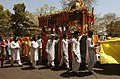 People Celebrating Baisakhi festival at Bangla Saheb Gurdwara, in New Delhi on April 14, 2006.jpg