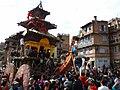Peoples pulling Ratha at Bhaktapur.jpg
