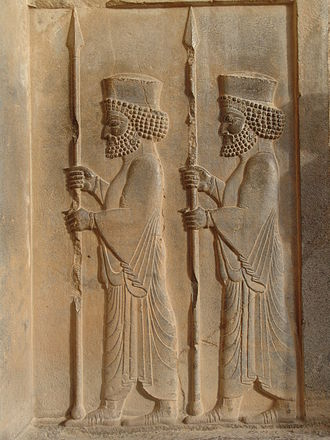 Iranian peoples - Persepolis-Persian guards