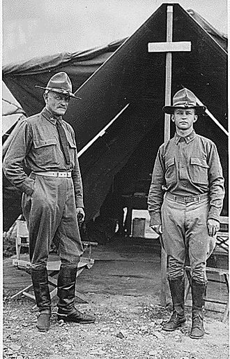 James Lawton Collins - Lt. Collins (right) with Major General Pershing in Mexico, 1916