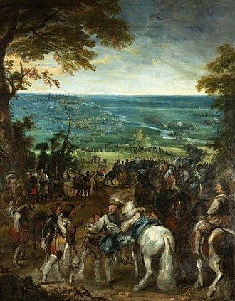 Peter Snayers - Henry IV at the siege of Amiens, with Rubens