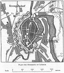 Map of Lubeck in 1806