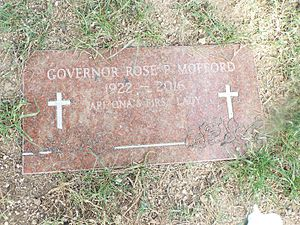 Rose Mofford - Grave of Governor Mofford before her 2017 grave marker was unveiled.