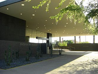 Phoenix Art Museum - Phoenix Art Museum's north entrance