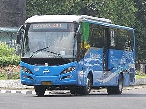 Pengangkutan Penumpang Djakarta - PPD Hino RK with Laksana Discovery caroserie serving TransJakarta route 2C PRJ-Monas