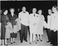 "Photograph of President Truman, Bess Truman, Margaret Truman and others at the premiere of ""Faith of our Fathers"" at... - NARA - 200230.tif"