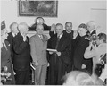 Photograph of President Truman at the swearing-in ceremony for members of the President's Commission on Internal... - NARA - 200270.tif